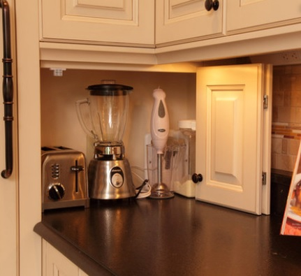 Easy to store and find things camano custom cabinets for Small kitchen in garage