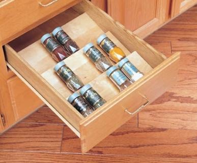 In-Drawer Spice Storage