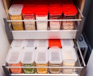 Bulk Food Storage in Cabinet Drawer