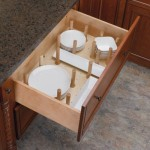 Cabinet Drawer Organization for dishes