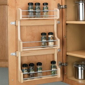 Cabinet Door Mounted Spice Rack