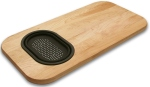 Wood Cutting Board with Collapsible Strainer