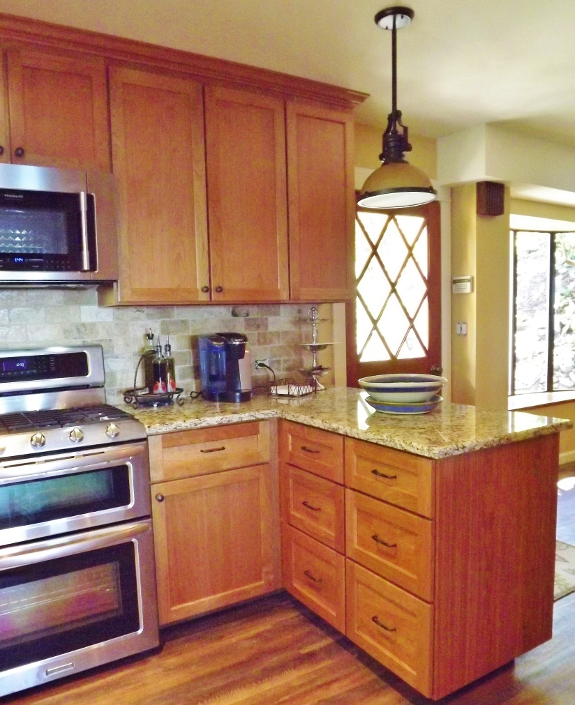 Cherry Kitchen Cabinets Camano Island